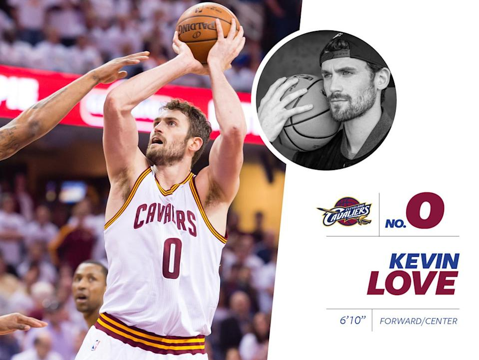 """<p>Cavaliers' No. 0 player, Kevin Love, is notably one of the sexiest men in the NBA, once posing <a href=""""http://espn.go.com/nba/story/_/page/bodykevinlove/cleveland-cavaliers-power-forward-kevin-love-strips-espn-magazine-body-issue"""" rel=""""nofollow noopener"""" target=""""_blank"""" data-ylk=""""slk:nude on the cover of ESPN's Body Issue in 2015"""" class=""""link rapid-noclick-resp"""">nude on the cover of ESPN's Body Issue in 2015</a>. He looked good. Love comes from a family of athletes — his father is <a href=""""https://en.wikipedia.org/wiki/Stan_Love_(basketball)"""" rel=""""nofollow noopener"""" target=""""_blank"""" data-ylk=""""slk:a former L.A. Laker"""" class=""""link rapid-noclick-resp"""">a former L.A. Laker</a> — and has an all-American look. Check out his <a href=""""https://www.instagram.com/p/5lbUO3M90b/?taken-by=kevinlove&hl=en"""" rel=""""nofollow noopener"""" target=""""_blank"""" data-ylk=""""slk:patriotic off-court style"""" class=""""link rapid-noclick-resp"""">patriotic off-court style</a> and enviable <a href=""""https://www.instagram.com/p/9m_Pb9M93G/?taken-by=kevinlove&hl=en"""" rel=""""nofollow noopener"""" target=""""_blank"""" data-ylk=""""slk:mustache"""" class=""""link rapid-noclick-resp"""">mustache</a>. <i>Photo: Getty Images / Instagram.com</i></p>"""
