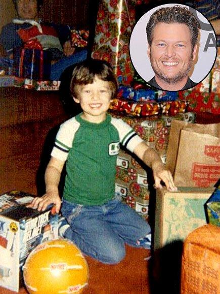 """<a href=""""../tag/blake-shelton/"""">Blake Shelton</a> (here as a tot) loves Christmas so much, he reportedly plays Christmas music all year long."""