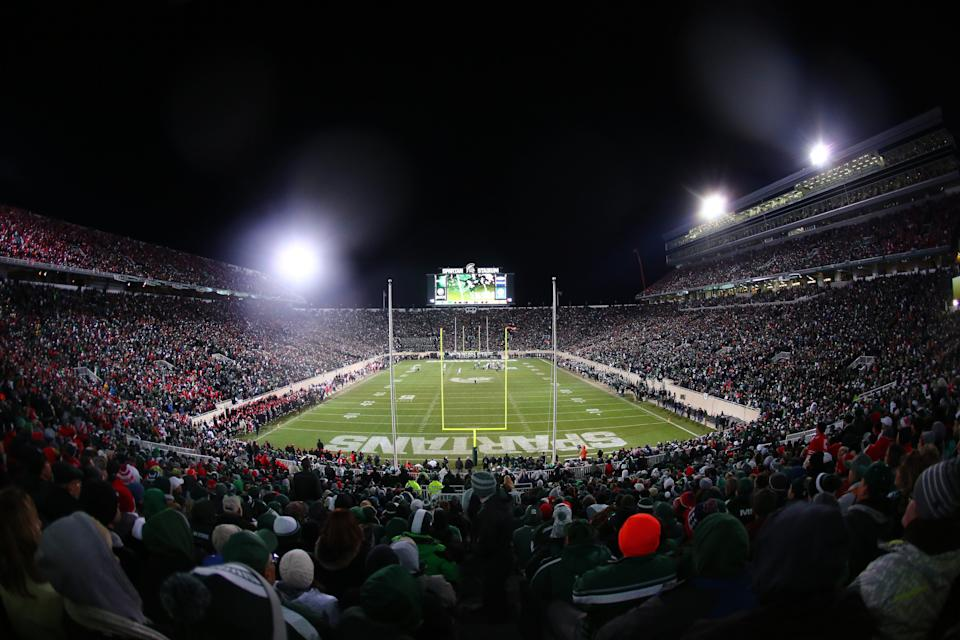 EAST LANSING, MI - NOVEMBER 8:  General view of Spartan Stadium during the game between Michigan State Spartans and Ohio State Buckeyes on November 8, 2014 in East Lansing, Michigan. (Photo by Rey Del Rio/Getty Images)