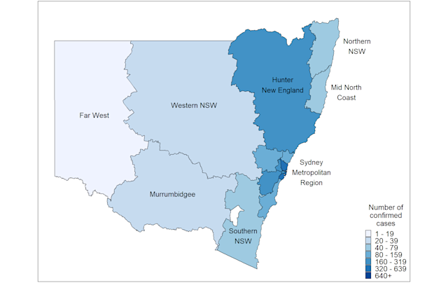 Coronavirus Cases Broken Down By Suburbs For Nsw And Victoria