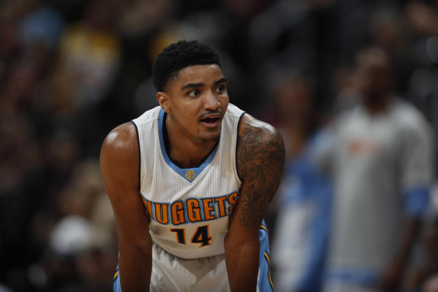 "Nuggets guard <a class=""link rapid-noclick-resp"" href=""/nba/players/5330/"" data-ylk=""slk:Gary Harris"">Gary Harris</a> just keeps getting better. (AP Photo/David Zalubowski)"