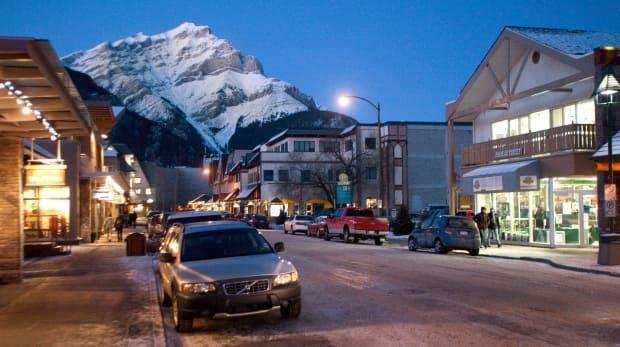 Downtown Banff is shown in an archival image. Alberta RCMP have been called to at least two large house parties in the past few weeks that are in blatant violation of public health restrictions during COVID-19. (Andy Clark/Reuters - image credit)