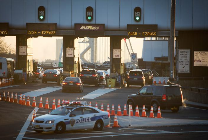 FILE PHOTO: The George Washington Bridge toll booths are pictured in Fort Lee, New Jersey