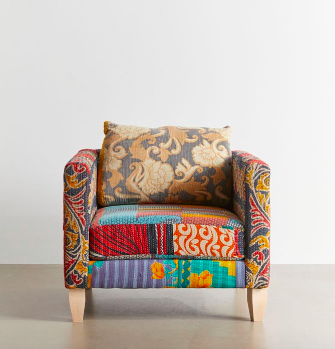 """<h2>Urban Renewal<br></h2><br>You may know Urban Outfitters for its fashion and accessories, but the perennially hip retailer also has a chic selection of bohemian furniture and decor, blending together both vintage and one-of-a-kind, up-cycled pieces. Like this unique """"Kantha Chair,"""" which goes to show: Urban's come a long way from the days of <em>Napoleon Dynamite</em> gag merch. <br><br><strong>Urban Renewal</strong> One-Of-A-Kind Kantha Chair, $, available at <a href=""""https://go.skimresources.com/?id=30283X879131&url=https%3A%2F%2Fwww.urbanoutfitters.com%2Fshop%2Furban-renewal-one-of-a-kind-kantha-chair"""" rel=""""nofollow noopener"""" target=""""_blank"""" data-ylk=""""slk:Urban Renewal"""" class=""""link rapid-noclick-resp"""">Urban Renewal</a>"""
