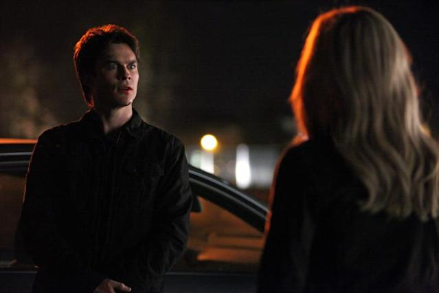 """Bring It On"" -- Ian Somerhalder as Damon and Claire Holt as Rebekah"