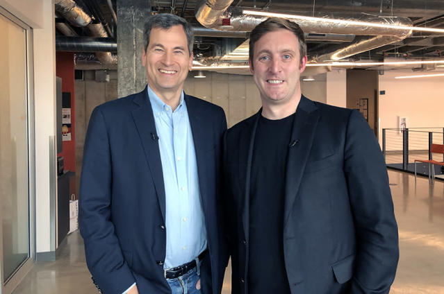 "Dr. Matt Wood (right) joined me for a ""CBS Sunday Morning"" interview at Amazon's Seattle headquarters."