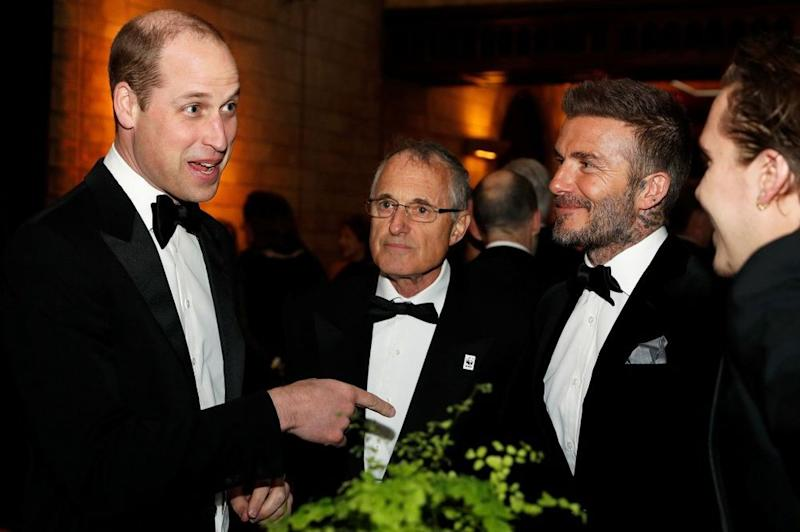 Prince William and David Beckham