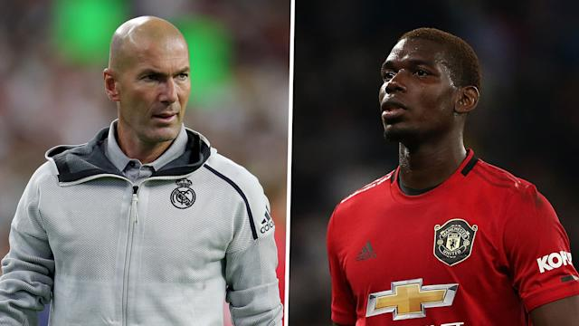 Zinedine Zidane Paul Pogba Real Madrid Manchester United