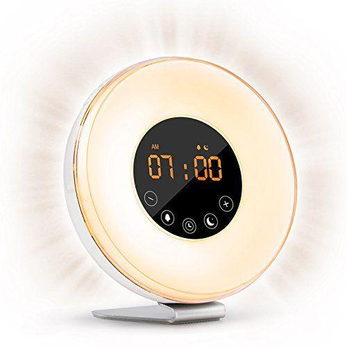 """<p><strong>Best For: Brightness, Color, & Sound Options</strong><br>This multifaceted clock has a brightness scale that can be gradually increased or decreased, a myriad of preferred color settings, and sound options ranging from birds to ocean waves and more for your ideal set wake-up style.</p><br><br><strong>VegasDoggy</strong> Sunrise Alarm Clock, $43.87, available at <a href=""""https://www.amazon.com/Sunrise-Simulation-Brightness-Function-Sleepers/dp/B0192AV2FK/ref=sr_1_6?ie=UTF8&qid=1541190577&sr=8-6&keywords=light+alarm+clock"""" rel=""""nofollow noopener"""" target=""""_blank"""" data-ylk=""""slk:Amazon"""" class=""""link rapid-noclick-resp"""">Amazon</a>"""