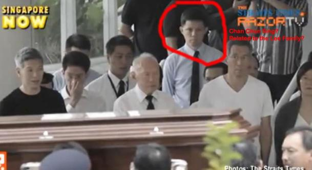 The screenshot captured from a RazorTV clip and posted by a netizen. MG Chan is circled in red. (Internet photo)