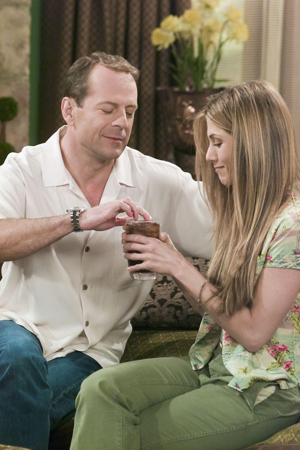 <p>Bruce Willis joined the show for a few episodes as Rachel's boyfriend Paul—who also happens to be the father of Ross' 20-year-old girlfriend. </p>