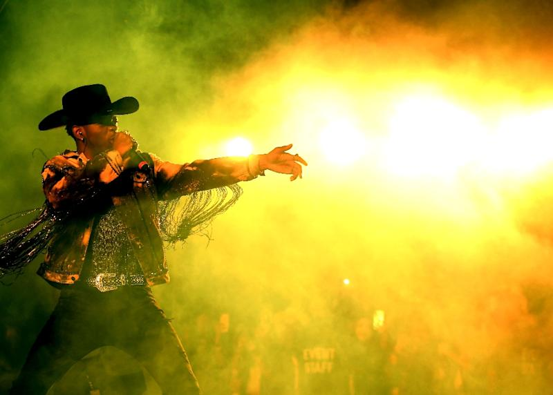 Lil Nas X performs during the 2019 Stagecoach Festival in California (AFP Photo/Matt Winkelmeyer)