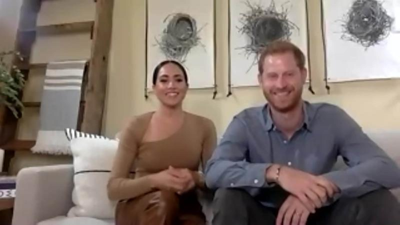 Undated handout video grab issued by the Evening Standard of the Duke and Duchess of Sussex being interviewed from their Californian home by the Evening Standard, the couple have joined forces with the newspaper to reveal their list of BHM next gen trailblazers Ð recognised for challenging prejudice and their positive contribution to British society.