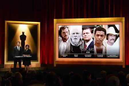 Chris Hemsworth and Cheryl Boone Isaacs announce the nominees for the 86th Academy Awards in Beverly Hills, California