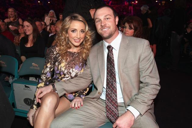 Ashley Monroe and John Danks attend the American Country Awards 2011 at the MGM Grand Garden Arena in Las Vegas on December 5, 2011 -- Getty Premium