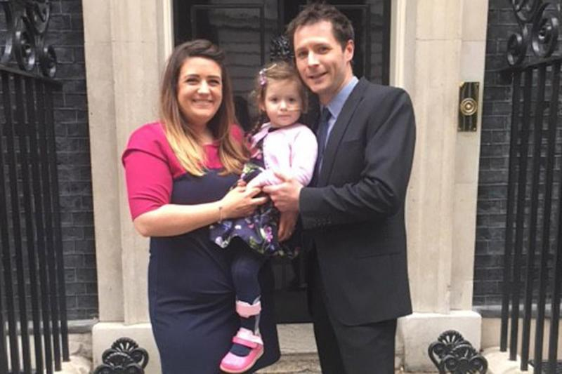 Her parents Nicole and Paul, from Colchester in Essex, are unable to afford the private physiotherapy