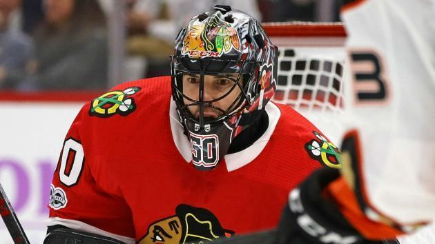 <p>Blackhawks' Corey Crawford heads to injured reserve with mystery ailment</p>