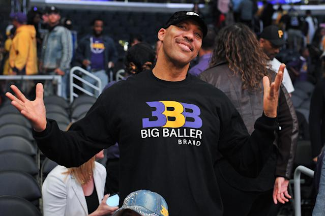 """LaVar Ball continues to be a buffoon, this time making an inappropriate comment at Molly Qerim during a """"First Take"""" interview. (Photo by Allen Berezovsky/Getty Images)"""
