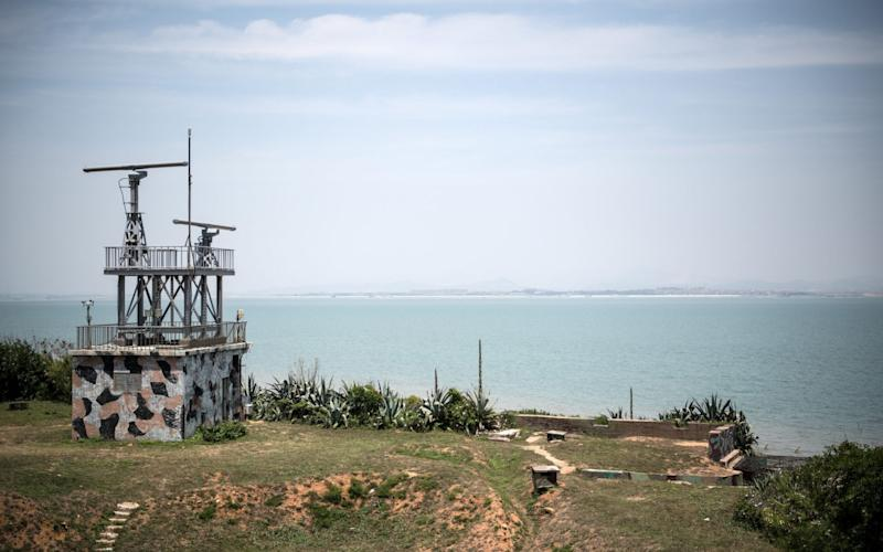 A radar station operates from a clifftop on the Taiwanese island of Kinmen which, at points lies only a few miles from China - Getty Images AsiaPac