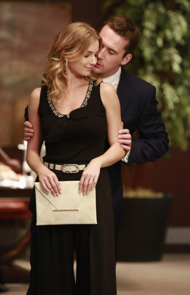 "Emily VanCamp and Barry Sloane in ""Revelations,"" the ninth episode of ""Revenge"" Season 2."