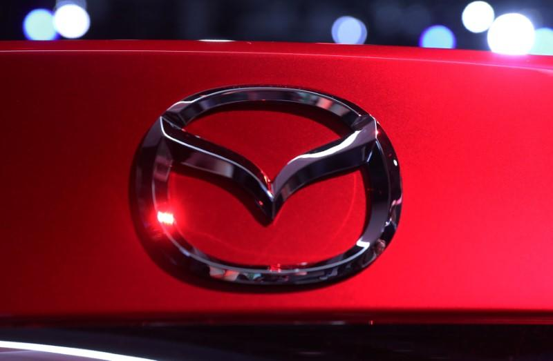 FILE PHOTO: Rear detail view of the new Mazda 6 at the Los Angeles Auto Show in Los Angeles