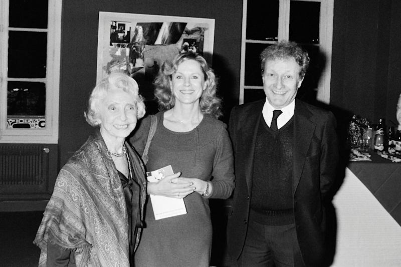 Swedish actress Bibi Andersson, shown here flanked by Madeleine Renaud, 94, and the late Jean-Louis Barrault of France, resisted being seen just as director Ingmar Bergman's actress (AFP Photo/Philippe WOJAZER)