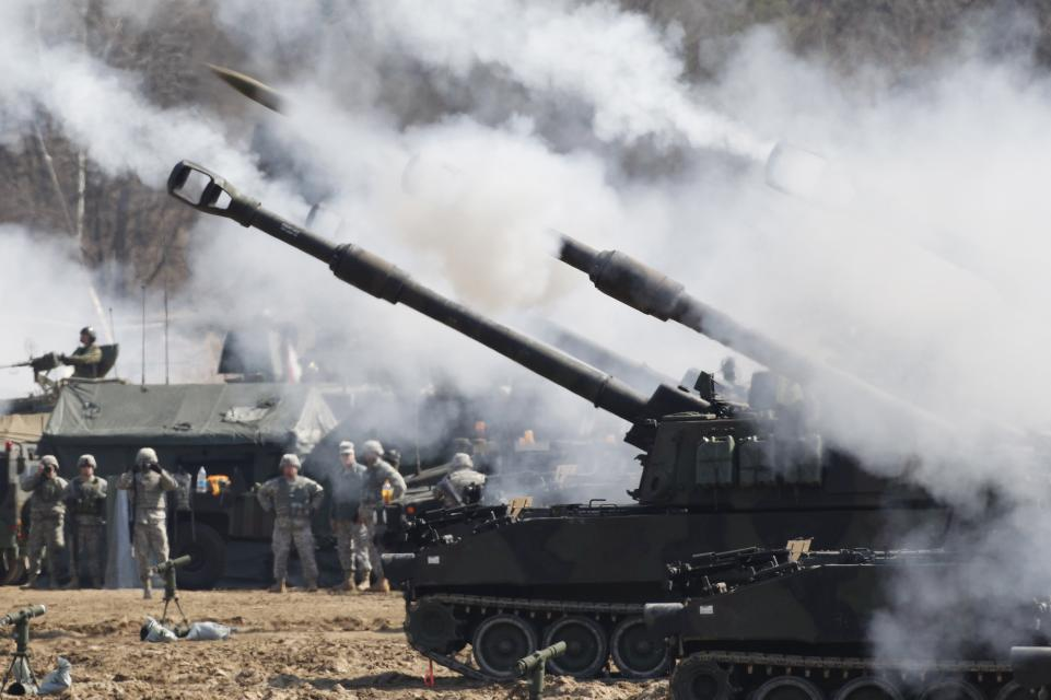 US Artillery in South Korea