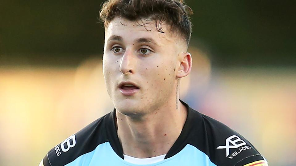 Banned former Sharks centre Bronson Xerri is reportedly eying off a potential NFL switch while he is suspended from the NRL. (Photo by Jason McCawley/Getty Images)
