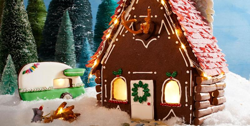 Build the Ultimate Rustic Gingerbread House With These Easy-to ... on butterfly roof designs, church roof designs, gingerbread house chimneys, gingerbread house masonry, garden roof designs, birdhouse roof designs, snow roof designs, gingerbread house details, gingerbread house roofing,