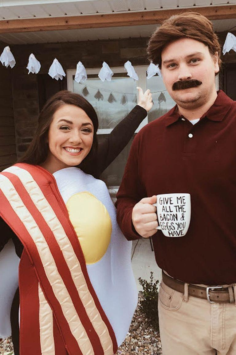 """<p>Nothing gets in the way of <em>Parks and Recreation</em> character's Ron Swanson and his love of a hearty breakfast with bacon and eggs. Not even Halloween. </p><p><a class=""""link rapid-noclick-resp"""" href=""""https://www.amazon.com/Swanson-Costume-Parks-Recreation-Medium/dp/B07X5FMRXD/?tag=syn-yahoo-20&ascsubtag=%5Bartid%7C10055.g.2625%5Bsrc%7Cyahoo-us"""" rel=""""nofollow noopener"""" target=""""_blank"""" data-ylk=""""slk:SHOP RON SWANSON COSTUME"""">SHOP RON SWANSON COSTUME</a></p><p><a class=""""link rapid-noclick-resp"""" href=""""https://www.amazon.com/Rasta-Imposta-6811-Egg-Costume/dp/B007O1X1CC/?tag=syn-yahoo-20&ascsubtag=%5Bartid%7C10055.g.2625%5Bsrc%7Cyahoo-us"""" rel=""""nofollow noopener"""" target=""""_blank"""" data-ylk=""""slk:SHOP EGG COSTUME"""">SHOP EGG COSTUME</a></p><p><em><a href=""""http://www.simplysaragrace.com/2015/10/happy-halloween-2015.html"""" rel=""""nofollow noopener"""" target=""""_blank"""" data-ylk=""""slk:Get the tutorial at The Simple Life »"""" class=""""link rapid-noclick-resp"""">Get the tutorial at The Simple Life »</a></em> </p>"""