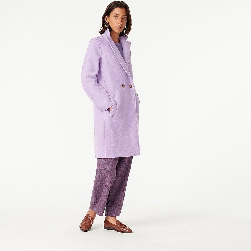 <p>This <span>J.Crew Daphne Topcoat</span> ($228) comes in a bunch of colors, but we like the lavender.</p>