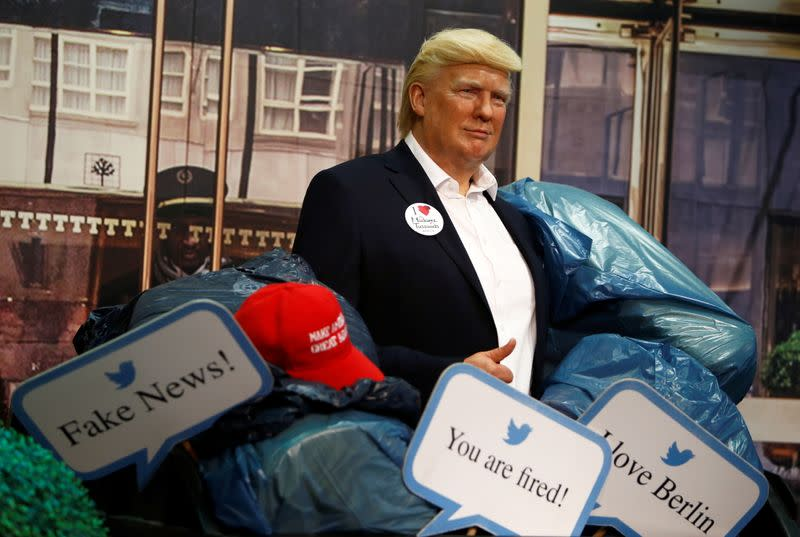 Trump wax figure put into a dumpster at Madame Tussauds in Berlin