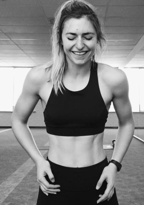 The 26-year-old has some MAJOR abs. Source: Instagram