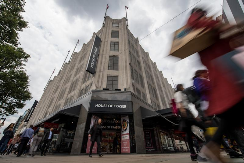 7b9fa9866983 House of Fraser Oxford Street fall shows decline of UK high street