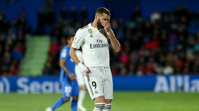 Real Madrid's past eight goals have all been scored by Karim Benzema but someone else will have to step up for Zinedine Zidane on Sunday.