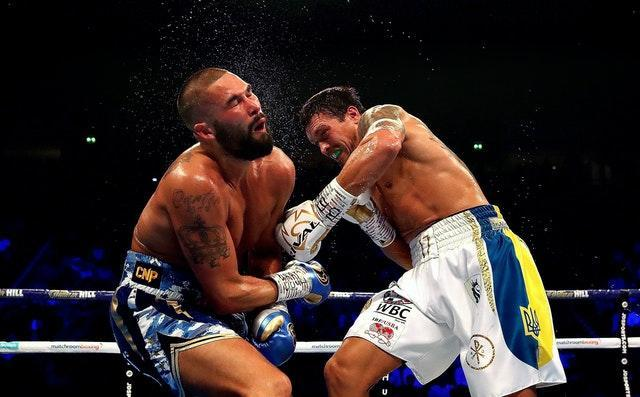 Usyk knocked out Tony Bellew, left, in the Ukrainian's last fight at cruiserweight (Nick Potts/PA)