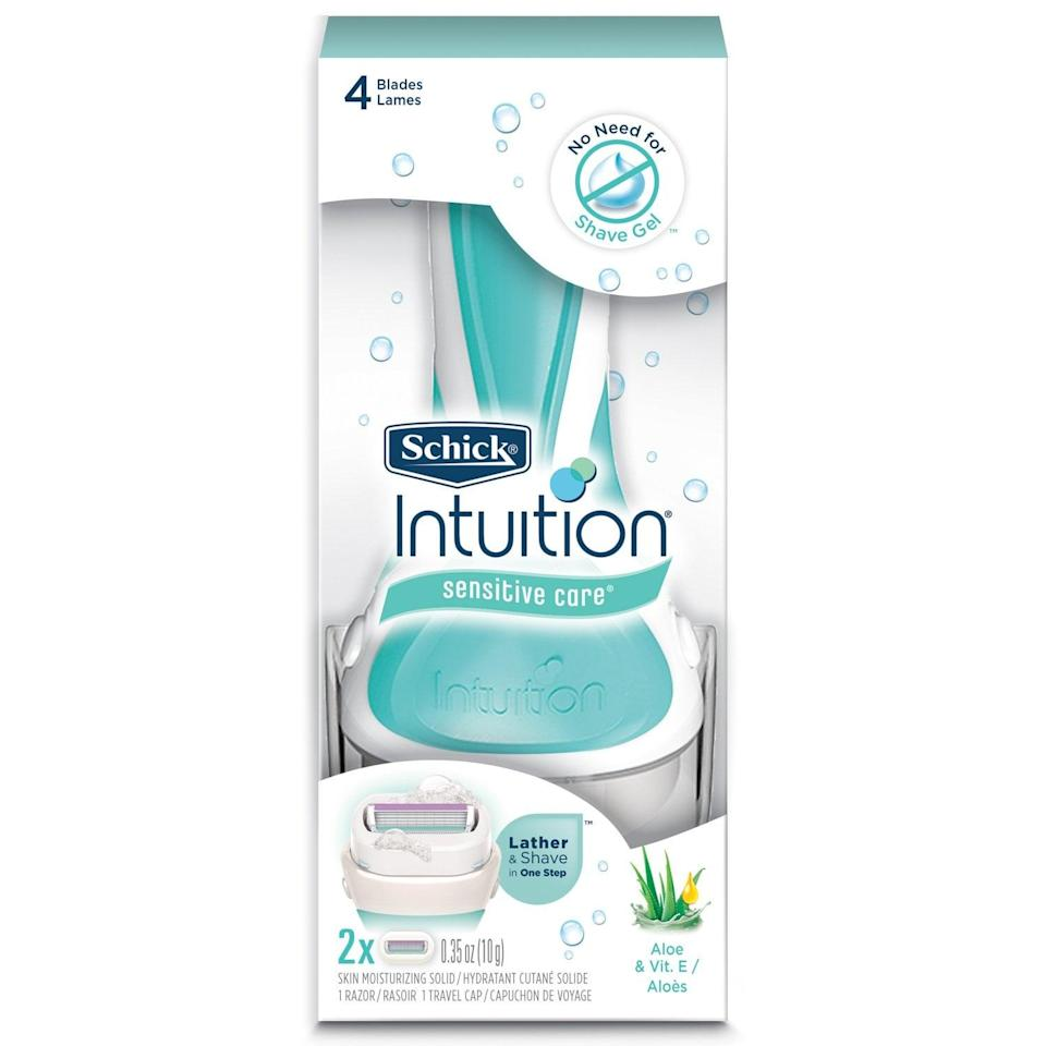 <p>The <span>Schick Intuition Sensitive Care Moisturizing Razor</span> ($8) has been a go-to for one of our editors for over a decade. Per her review, she loves that features cream surrounding the blades making the use of other lotions and creams unnecessary.</p>
