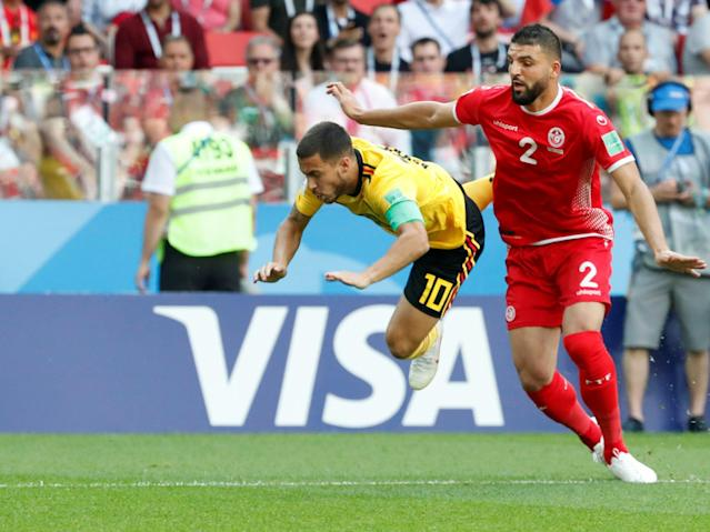 Belgium vs Tunisia - as it happened: Eden Hazard and Romelu Lukaku fire Red Devils to victory