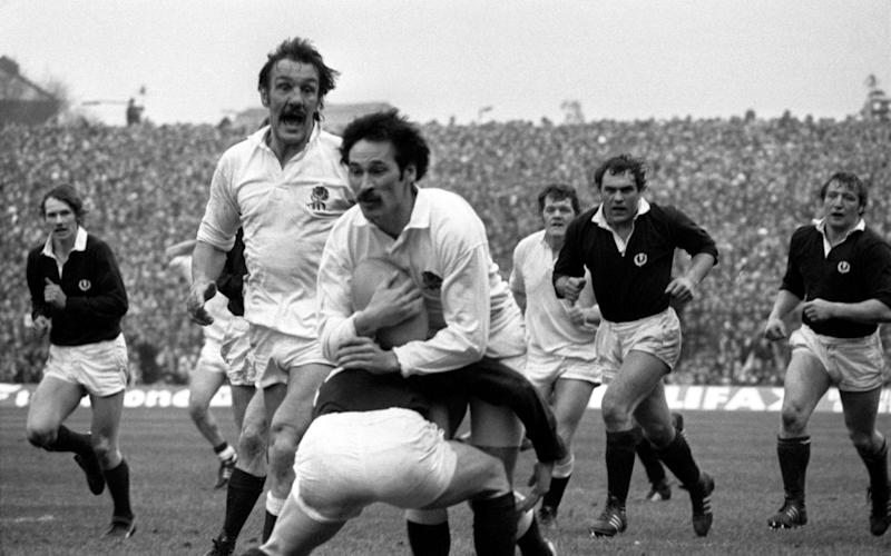 Mike Slemen in action in the 1980 Five Nations decider against Scotland at Murrayfield - S&G/PA