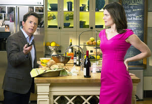 Michael J. Fox and Betsy Brandt | Photo Credits: Eric Leibowitz/NBC