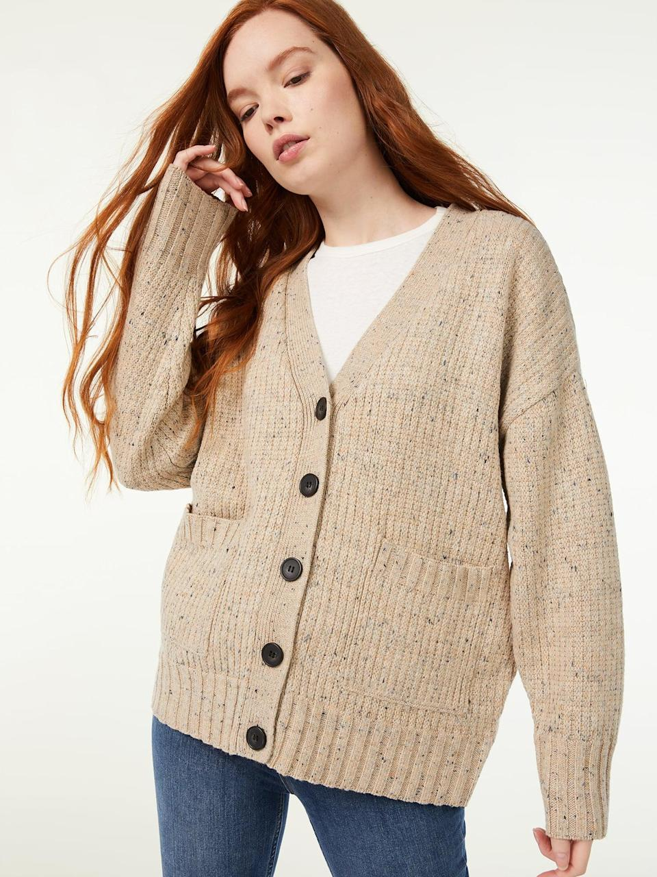 <p>The <span>Free Assembly Women's Grandpa Cardigan</span> ($28) is oversized with an old-fashioned feel. </p>
