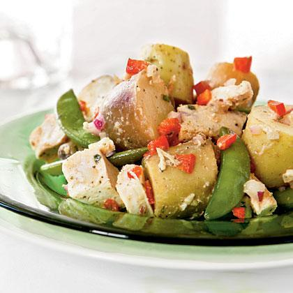 """<p>Serve this <a href=""""https://www.myrecipes.com/salad-recipes"""" rel=""""nofollow noopener"""" target=""""_blank"""" data-ylk=""""slk:salad"""" class=""""link rapid-noclick-resp"""">salad</a> warm, at room temperature, or chilled for maximum versatility. Leftovers make an easy and satisfying lunch.</p>"""
