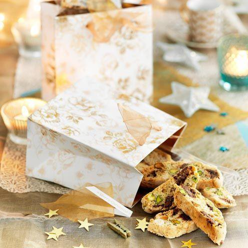 """<p>Wrap up these tasty Italian biscuits for the perfect Christmas gift.</p><p><strong>Recipe: <a href=""""https://www.goodhousekeeping.com/uk/food/recipes/a535271/choc-and-nut-biscotti/"""" rel=""""nofollow noopener"""" target=""""_blank"""" data-ylk=""""slk:Choc and nut biscotti"""" class=""""link rapid-noclick-resp"""">Choc and nut biscotti</a></strong><br><br><br><br></p>"""