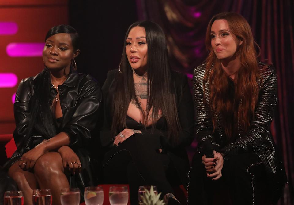 The original members of the Sugababes appearing on Graham Norton last year (Photo: Isabel Infantes - PA Images via Getty Images)