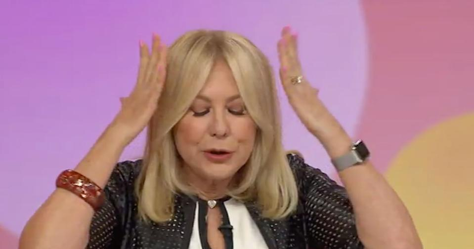 A screenshot of Kerri-Anne Kennerley during her on-screen rant about the Labor party in the run up to the Federal Election