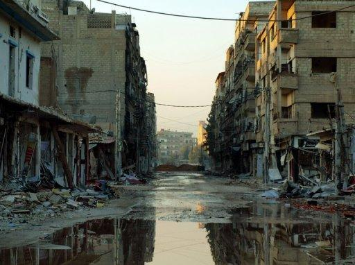 A picture from the Syrian opposition's Shaam News Network shows the southwest town of Daraya on December 27, 2012