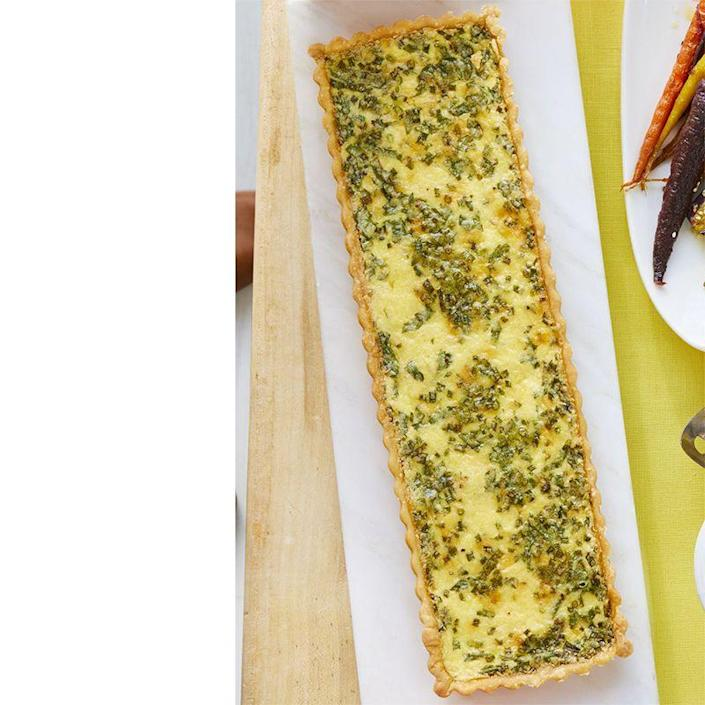 """<p>No Father's Day brunch is complete without a cheesy quiche. The best part is you can make this ahead of time and just heat it up when you're ready.</p><p><a href=""""https://www.womansday.com/food-recipes/food-drinks/a19122269/cheese-and-herb-quiche-recipe/"""" rel=""""nofollow noopener"""" target=""""_blank"""" data-ylk=""""slk:Get the Cheese and Herb Quiche recipe."""" class=""""link rapid-noclick-resp""""><em>Get the Cheese and Herb Quiche recipe.</em></a></p>"""