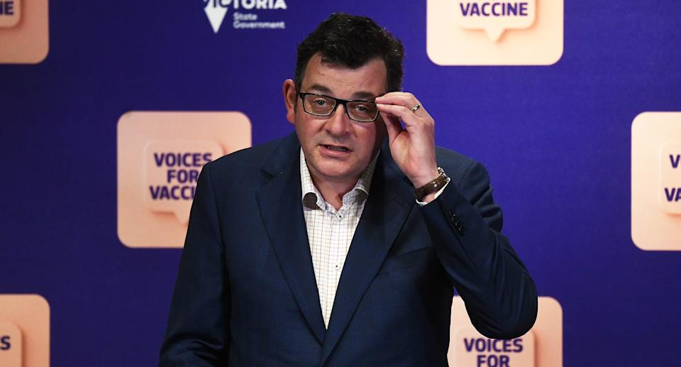 Victorian Premier Daniel Andrews addresses the media during a press conference in Melbourne, Friday, September 3, 2021. Source: AAP