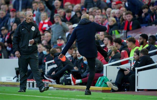 Guardiola was furious that Milner avoided a second yellow