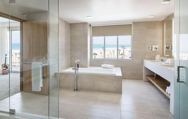 The opulent bathroom in the one-bedroom suite. Photo: Paséa Hotel & Spa